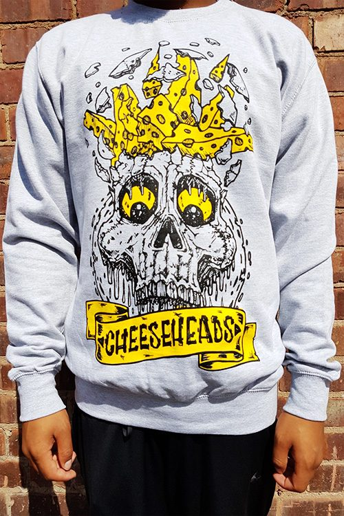 BlueCheese Cheese Heads Long Sleeve Tee Front