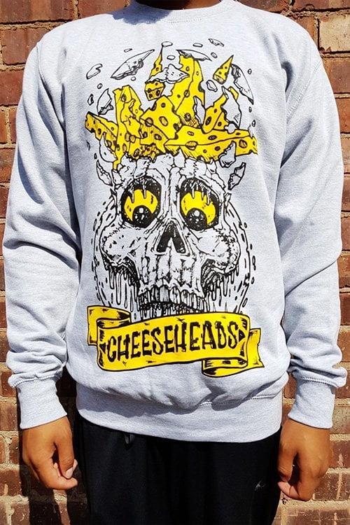 BlueCheese Cheese Heads Long Sleeve Tee Front
