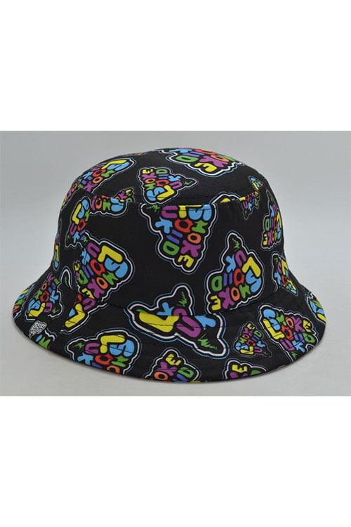 0000 Smokeloud Multi Colour Bucket Hat Front