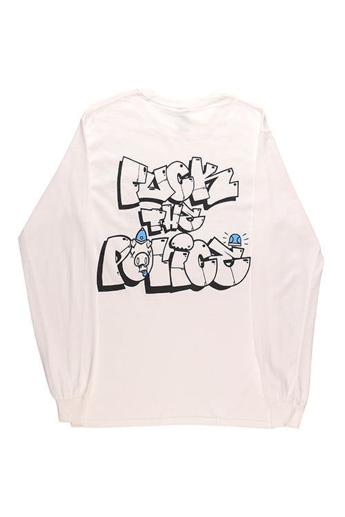 White Fuck The Police Tee