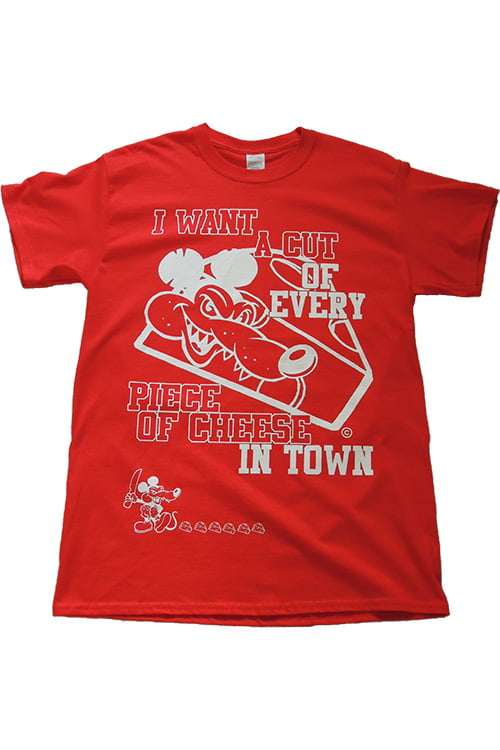 cut of cheese t shirt front red
