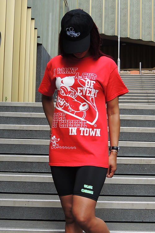cut of cheese t shirt red